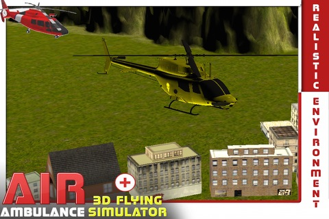 Air Ambulance Flying Simulator 3D: Fly Real Emergency Air Ambulance & Rescue People screenshot 4