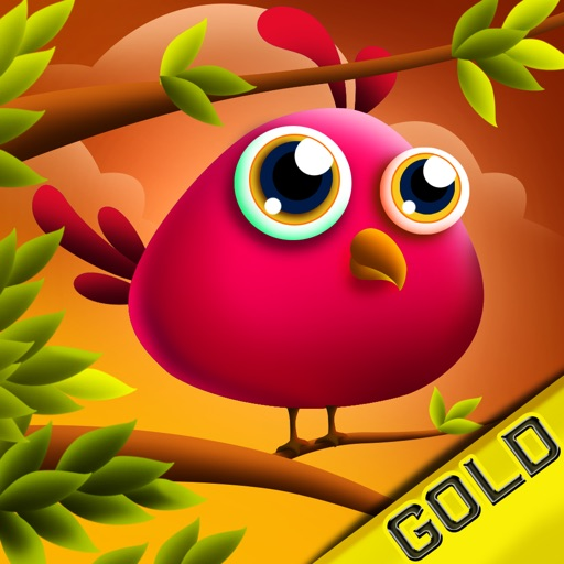 Jumping Cute Feathers : Tiny birds learning to fly - Gold Edition iOS App
