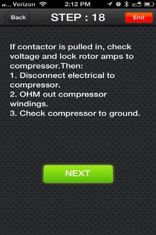Screenshot of HVAC Troubleshooting