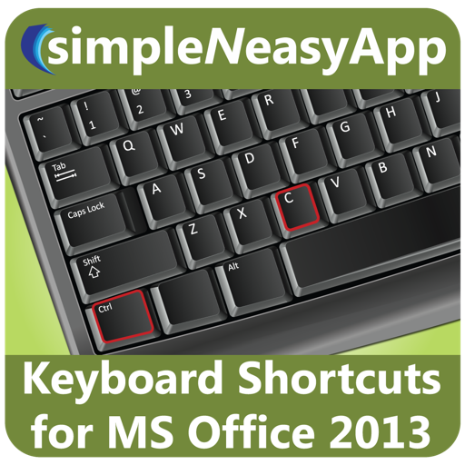 Keyboard Shortcuts for MS Office 2013 - A simpleNeasyApp by WAGmob
