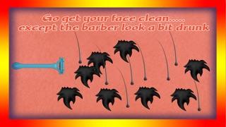 Screenshot von betrunkenen Barbier rasieren Haar Beauty-Salon: der Bart geschnitten Entfernung gefährlicher Verjüngungskur - Gratis-Edition2