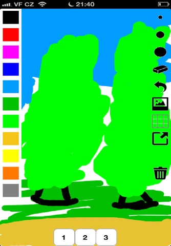 Kids Finger Paint brush screenshot 1