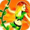 Dschungel Jane Swing - Upbeat Physik Vine Swinging Akrobatik Adventure Game HD