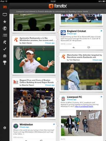 fanatix for iPad screenshot 2