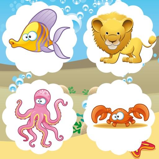 Animation Trouver des Erreurs dans Les Photos D'animaux! Jeux D'apprentissage de la Logique Gratuits