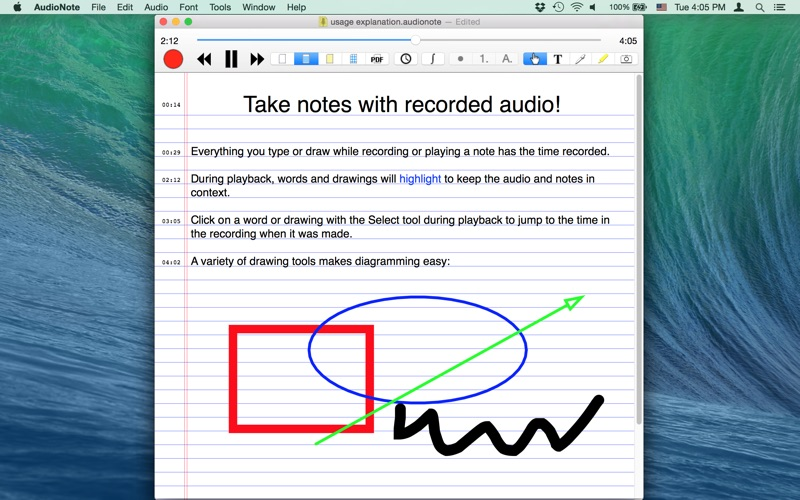 AudioNote--Note+Voice Recorder Screenshot