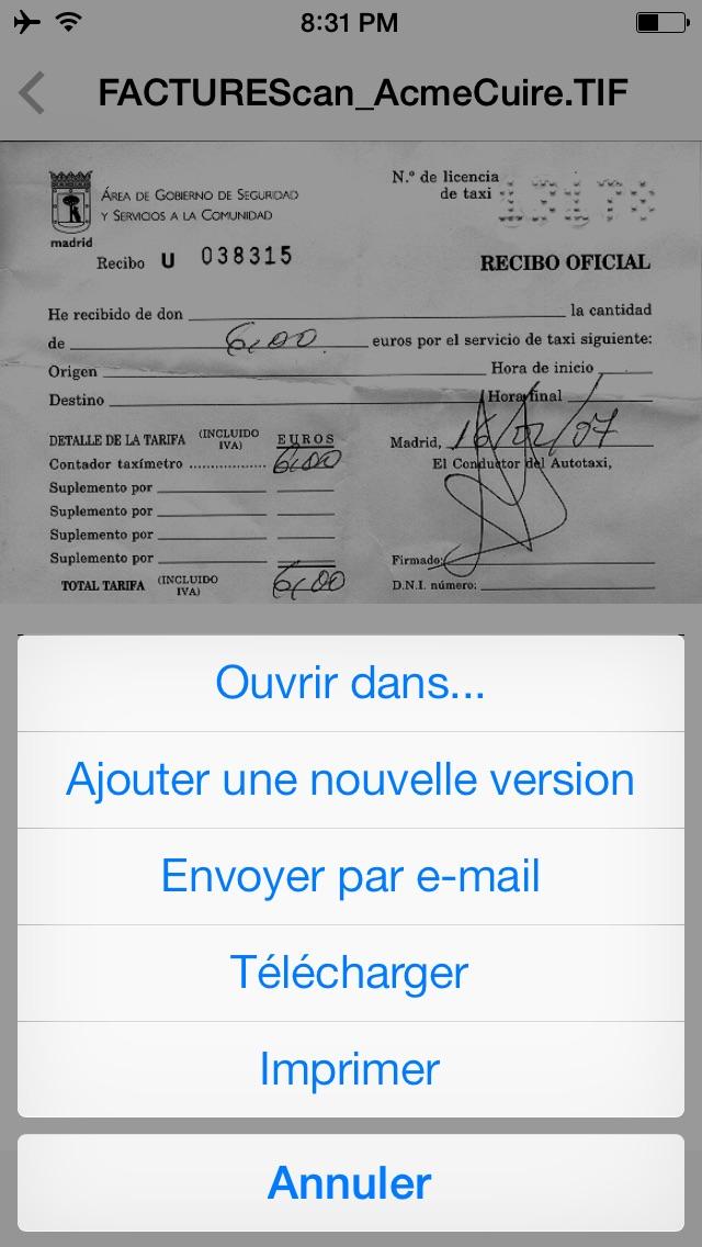 Xerox® Mobile Client for DocuShare®Capture d'écran de 4