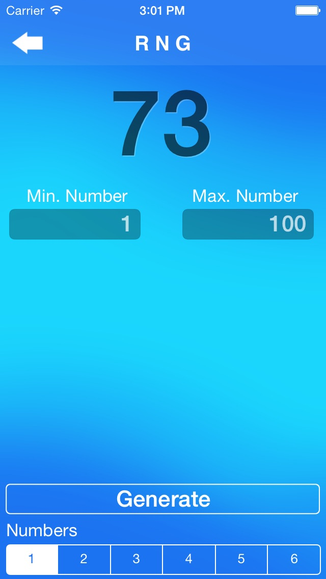 Screenshot #6 for Random Number Generator +