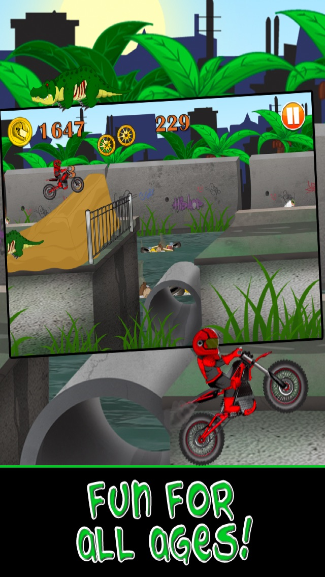 Motorcycle Bike Race Escape : Speed Racing from Mutant Sewer Rats & Turtles Game - For iPhone & iPad EditionСкриншоты 5
