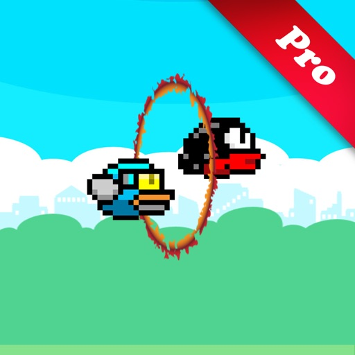 Flappy 2 Circus Pro –  Players Cross The Fire Rings