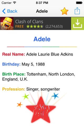 Celebrity Real Names FREE: Guess Celebs Name Game & Look Alike Trivia Quiz! screenshot 2