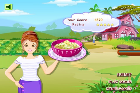 Young Girl Chef: Potato Pie -  A Potato Named Pou screenshot 1