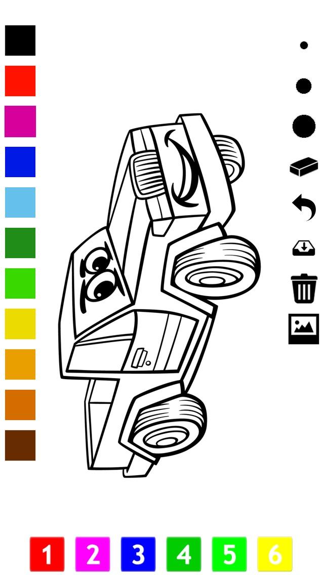 Activo! Libro Para Colorear de Los Coches Para Los Niños: Aprender a ...