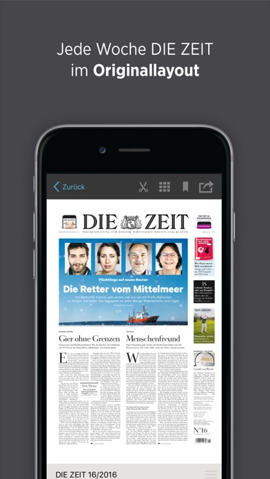Die Zeit E Paper review screenshots