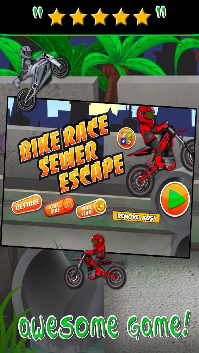 Motorcycle Bike Race Escape : Speed Racing from Mutant Sewer Rats & Turtles Game - For iPhone & iPad EditionСкриншоты 1