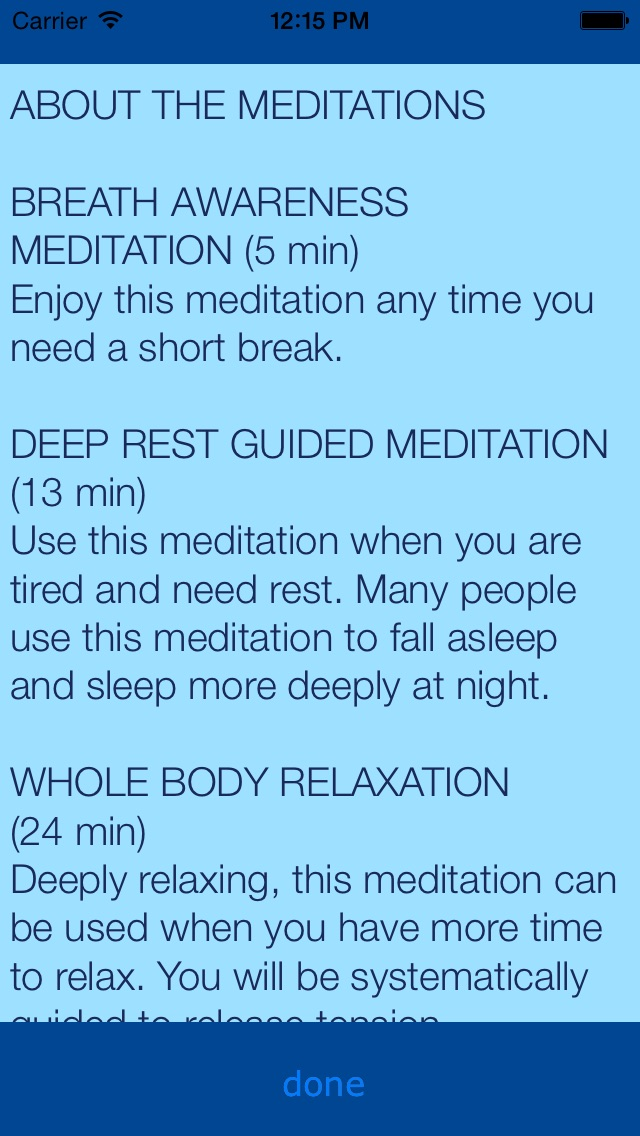 Relax & Rest Guided Meditations