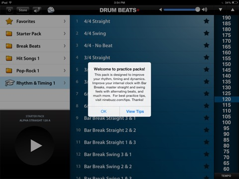 Screenshot #3 for Drum Beats+ (Rhythm Metronome, Loops & Grooves Machine)