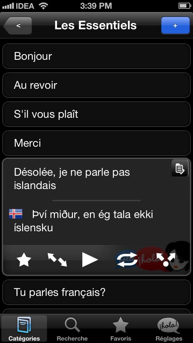 Lingopal Islandais LITE - guide de conversation audioCapture d'écran de 2