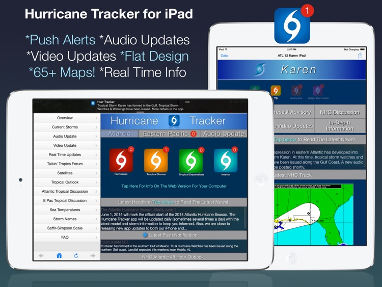 Hurricane Tracker For iPad by EZ Apps, Inc