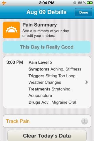 WebMD Pain Coach screenshot 2