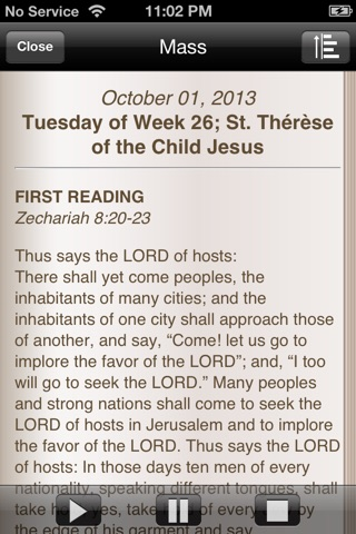 iMissal Catholic (Mass Reading, Calendar, Lectionary) screenshot 3