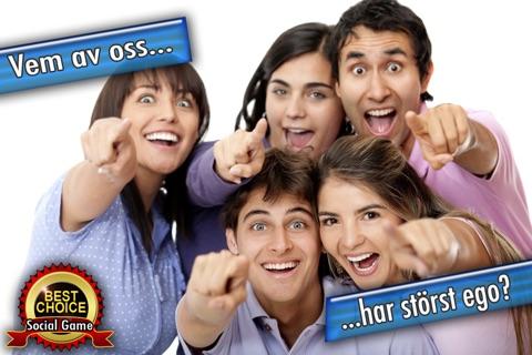 Vem av oss? - ett kul socialt spel till en förfest, middag, dating, tjejkväll, fika med vänner, gratis sällskapsspel till en fest screenshot 4