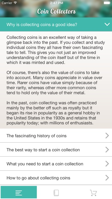 Screenshot for Coins - A Price Catalog for Coin Collectors in United States App Store