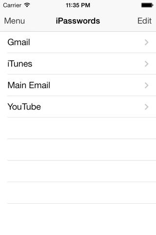 iPasswords screenshot 1