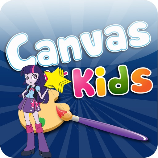 Free Coloring Book Games for Kids - Equestria Girls Edition iOS App