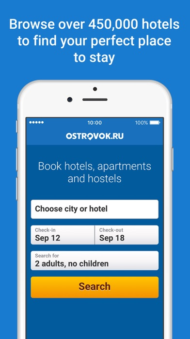 Screenshots of Ostrovok for iPhone