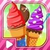 Sugar Cone Creator  — Soft Creamy Ice Cream dessert  on sunny beach