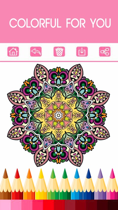 adult coloring book free mandala color therapy stress relieving pages for adults 2 app. Black Bedroom Furniture Sets. Home Design Ideas
