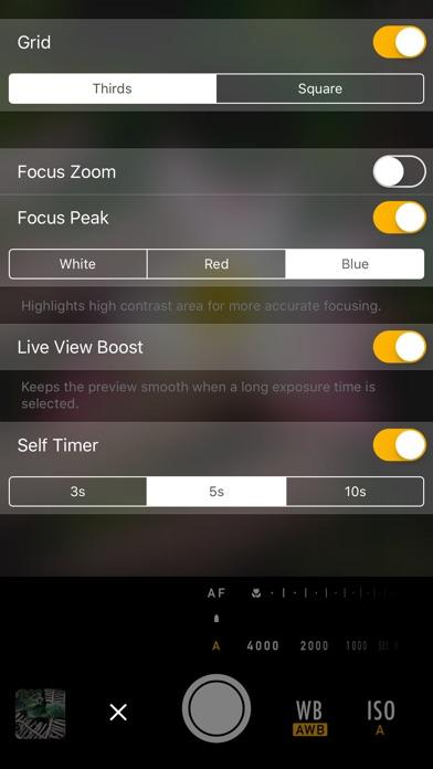 Screenshot for M Cam - Manual controls & custom exposure camera in Ecuador App Store