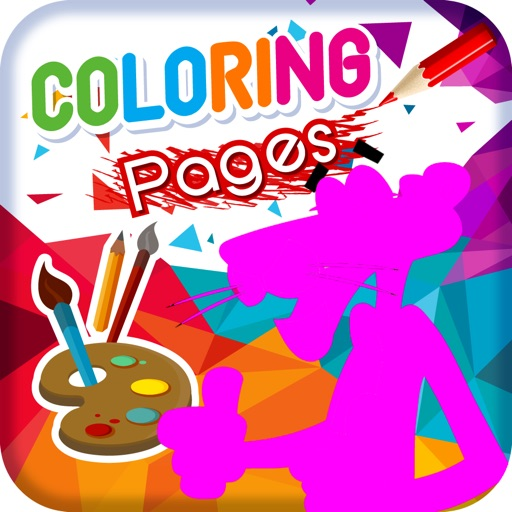 Kids Coloring Books for Pink Phanter Version iOS App