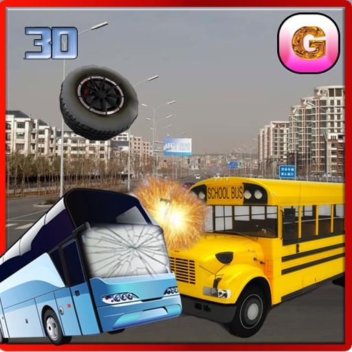School Bus Crash Demolition : Derby Racing Bus Chase Simulator