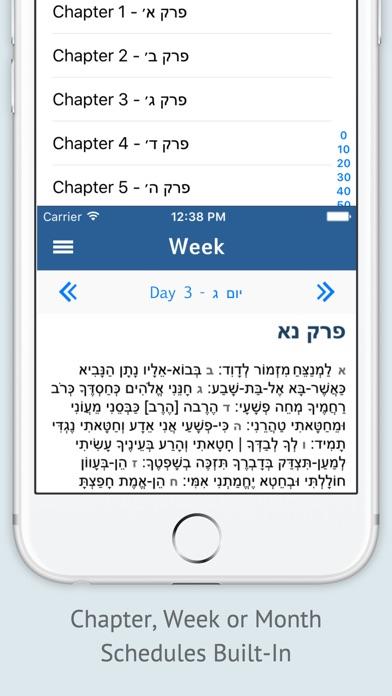 Tehilim - תהלים Tehillim Psalms Screenshot 2