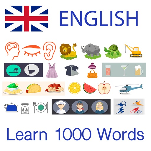 Learn English 1000 Words with Pictures & Sounds iOS App