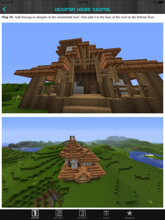 ipad screenshot 1 - Biggest Minecraft House In The World 2016