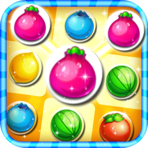 Amazing Fruit Bubble Line iOS App
