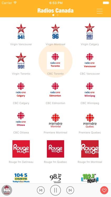 Radio Canada FM (Canada Radios) - Include Virgin Radio, CBC