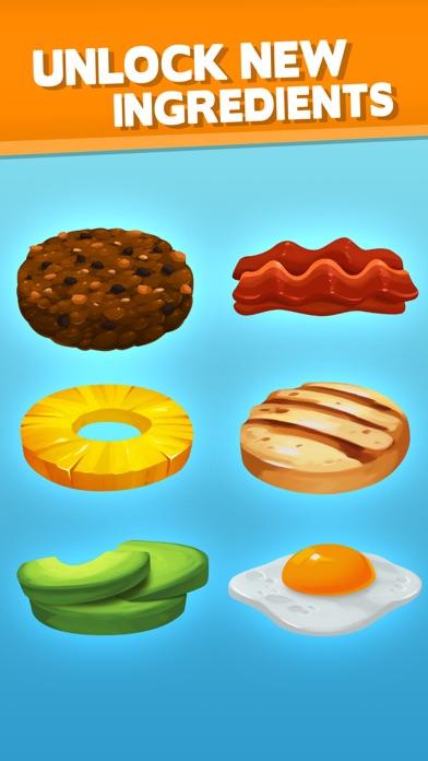 Screenshots of Sky Burger - Build & Match Food Free for iPhone