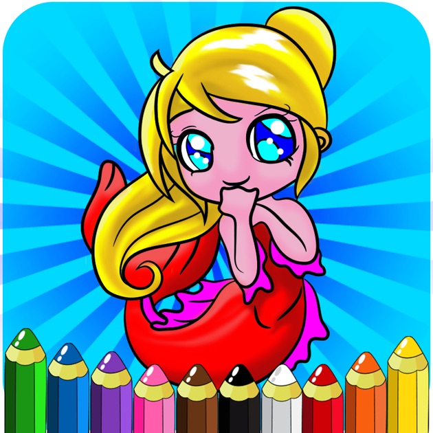 drawing painting little mermaid coloring books princess games for toddler kids and preschool explorers on the app store