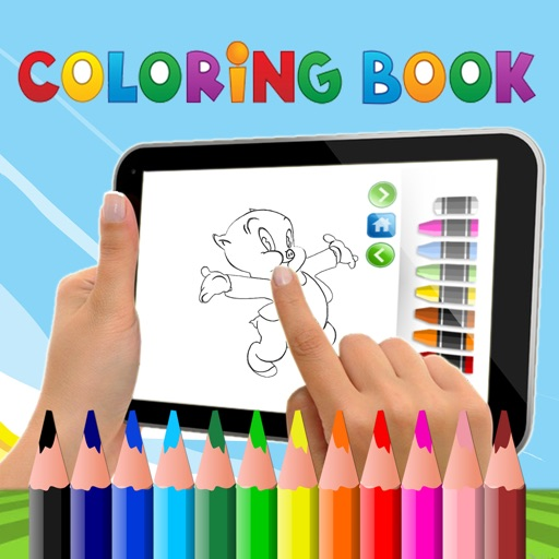 PAINT COLORING BOOK FOR KIDS PORKY PIG CARTOON VERSION iOS App
