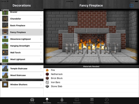 Screenshots of Free Furniture For Minecraft PE (Pocket Edition) for iPad