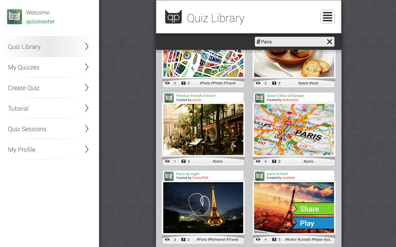Quiz Creator - Take, Share and Publish Quizzes Screenshot
