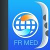 Medizinwörterbuch und Verben Französisch-Englisch