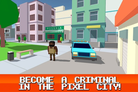 Pixel City: Crime Car Theft Race 3D Full screenshot 1