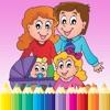 La Mia Famiglia Coloring Book pittura Disegno per i bambini giochi gratis