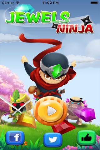 Diamond Jewels Ninja Mania-diamond game and match jewels screenshot 1
