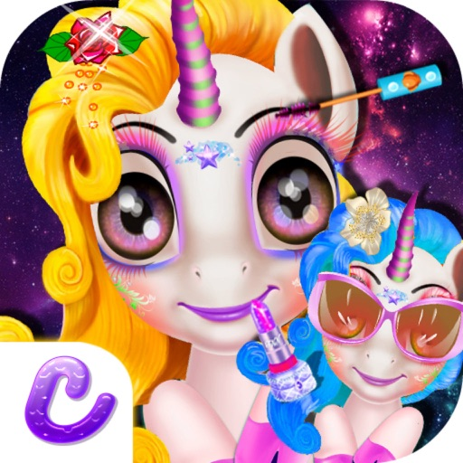 Unicorn Binkie's Secret - Pretty Princess Makeup Salon/Fashion Girls Makeover iOS App